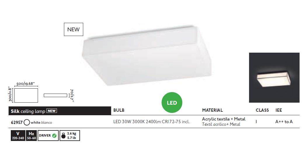 Plafoniere Led Moderne Design : Plafoniera led design modern silk alba faro barcelona